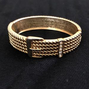 $14 or 2 for $25-Gold bracelet with sparkly buckle